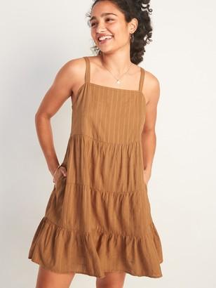 Old Navy Sleeveless Tiered Dobby Swing Dress for Women