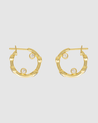 Wanderlust + Co Skylar Gold Huggies Earrings