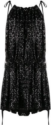 16Arlington Sequin-Embellished Mini Dress