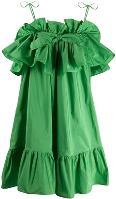 MSGM ruffle-trimmed A-line dress