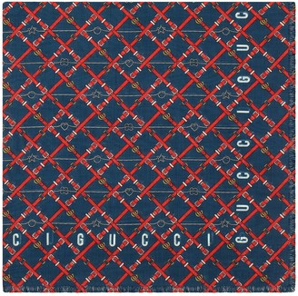 Gucci GG bridal strap print scarf