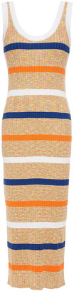 M Missoni Striped Ribbed Cotton-blend Midi Dress