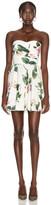 Dolce & Gabbana Strapless Floral Mini Dress in Rose | FWRD