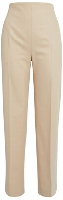 MARK KENLY DOMINO TAN Wool-Blend Priska Trousers