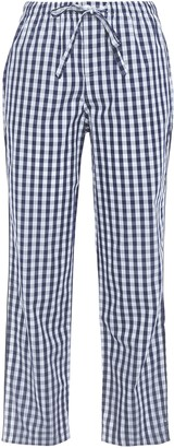 Sleepy Jones Cropped Gingham Cotton-poplin Pajama Pants