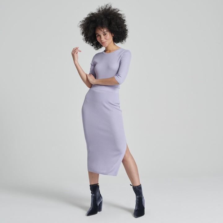 Naadam Summer Silk Midi Skirt
