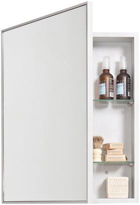 Wireworks - Slimline Bathroom Cabinet - Oyster Oak