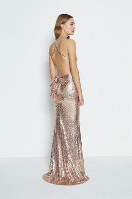 Coast Bow Back Sequin Maxi Dress