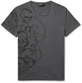 Alexander McQueen Slim-Fit Skull-Print Cotton-Jersey T-Shirt