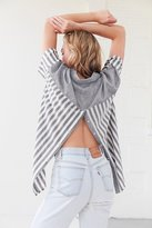 BDG Mixed Striped Popover Collared Top