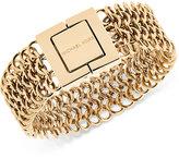 Michael Kors Gold-Tone Logo-Engraved Magnetic Bracelet