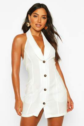 boohoo Halterneck Sleeveless Blazer Dress
