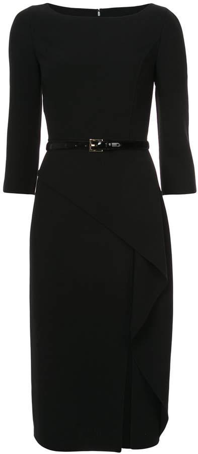 Michael Kors asymmetric belted dress