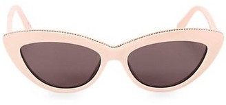 Stella McCartney 52MM Chain-Embellished Cat Eye Sunglasses