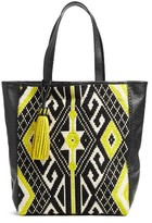 Rebecca Minkoff X Feed Woven Tote Bag - Black