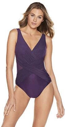 Miraclesuit Illusionists Crossover One-Piece (Sangria) Women's Swimsuits One Piece