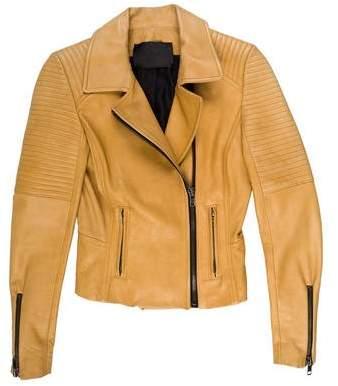 A.L.C. Leather Zip-Up Jacket