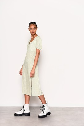Glamorous Womens **Care Ditsy Midi Dress By Green