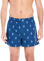 Psycho Bunny Logo Woven Boxer Shorts
