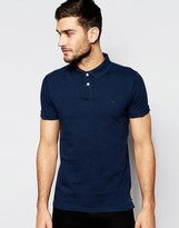 Jack Wills Glaisdale Polo In Classic Regular Fit In Navy Nep