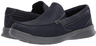 Clarks Cotrell Easy (Navy Combi Leather) Men's Shoes