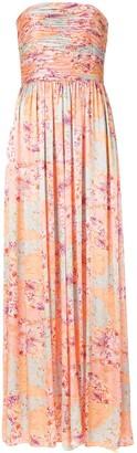 AMUR Pleated Floral Jumpsuit