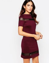 Amy Childs Suki Shift Dress with Mesh Inserts