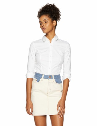 My Michelle Leighton By Junior's Classic Long Sleeve Career Button Down Shirt