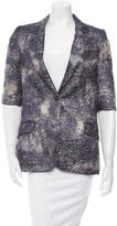 Elizabeth and James Metallic Jacquard Blazer