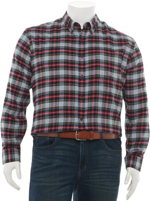 Croft & Barrow Big & Tall Extra-Soft Flannel Button-Down Shirt