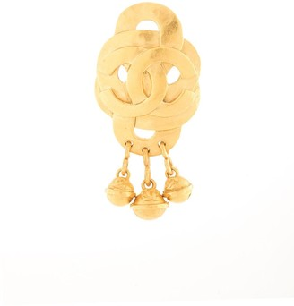 Chanel Pre Owned interlaced CC brooch