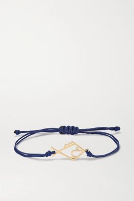 Yvonne Léon 9-karat Gold, Silk And Diamond Bracelet