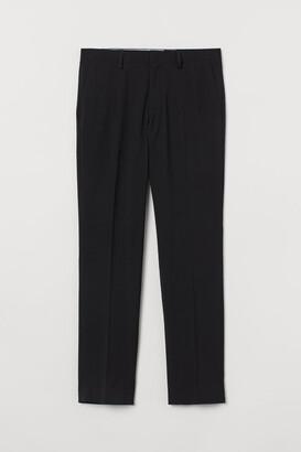 H&M Slim Fit Suit Pants - Black