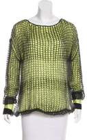 Giorgio Armani Long Sleeve Open Knit Top
