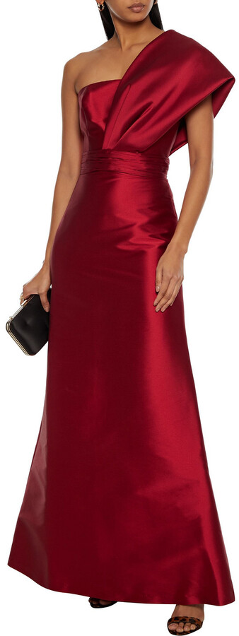 Thumbnail for your product : Sachin + Babi Hannah One-shoulder Gathered Duchesse-satin Gown