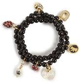 Beaded Charm Bracelet, Black