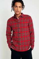 Uo Red Tartan Plaid Flannel Shirt