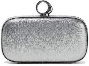 Halston Elsa Bean Metallic Pebbled-leather Clutch
