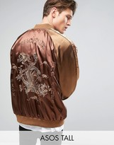 Asos TALL Souvenir Jacket with Phoenix Embroidery