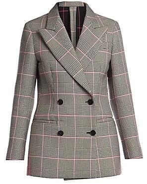 MSGM Women's Prince Of Wales Check Blazer