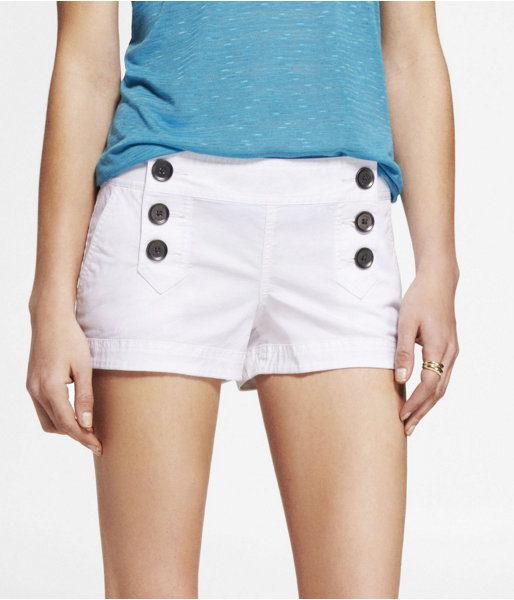 Express 2 Inch Stretch Cotton Sailor Shorts