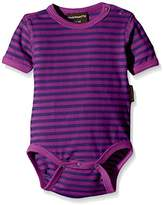 Maxomorra Unisex Baby BASI-M027 Short Sleeve Striped Bodysuit