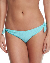 Heidi Klein Textured Tie-Side Swim Bottom, Sky