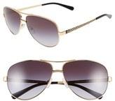 Tory Burch Women's 60Mm Aviator Sunglasses - Grey