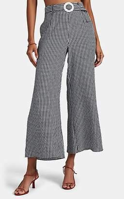 Solid & Striped Women's Gingham Seersucker Palazzo Pants