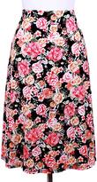 Blvd Black Floral A-Line Skirt