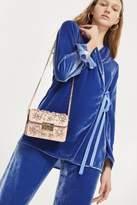 Topshop Olive Gem Embellished Crossbody Bag