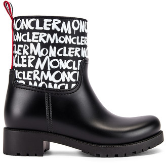 Moncler Ginette Logo Boot in Black | FWRD