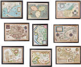 OKA World Map Prints, Set of Nine