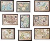 OKA World Map Prints, Set of Nine